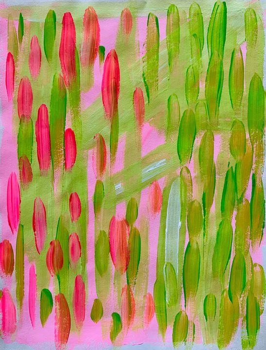 Pink Cacti - M. Bonadies