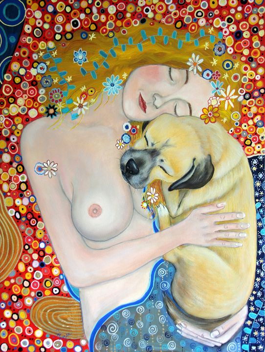 Mama and Baby - Carols Canvas - Art by Carol Lynn Iyer