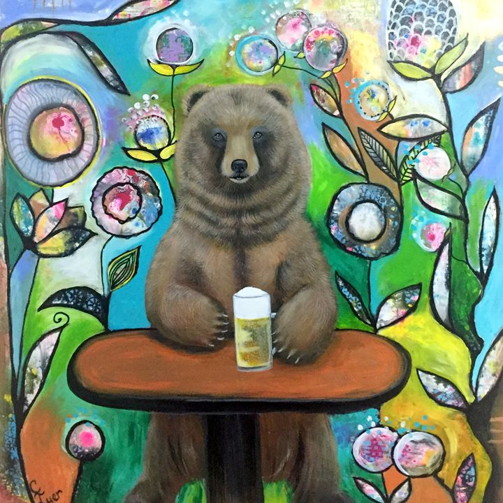 Grizzly Beer - Carols Canvas - Art by Carol Lynn Iyer