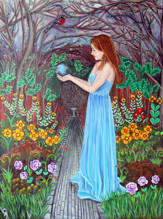 The Whole World is in Her Hands - Carols Canvas - Art by Carol Lynn Iyer