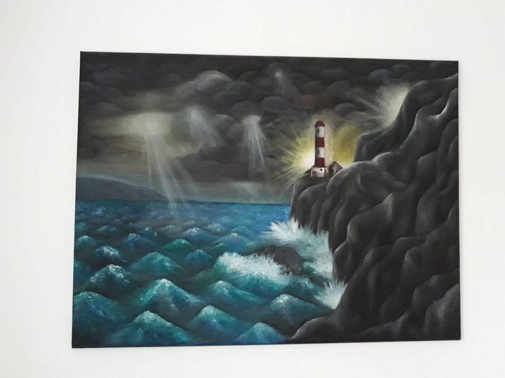 """Lighthouse"" - 120x90cm - Minunart"