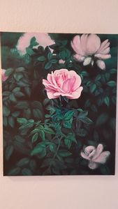 Roses on canvas