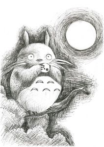 Totoro in moonligh playing Ocarina