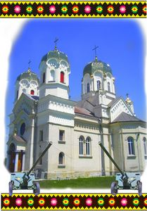 Orthodox church with guns
