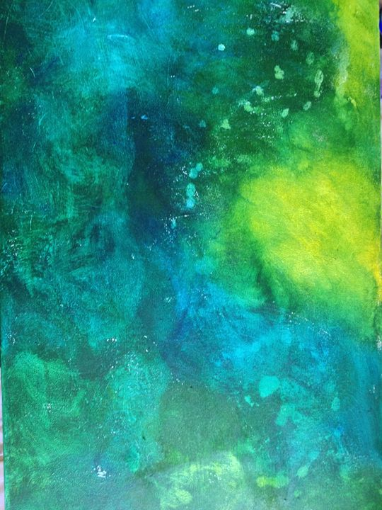 Swimming Though The Sea - Original abstract art by Brittany Yedlicka