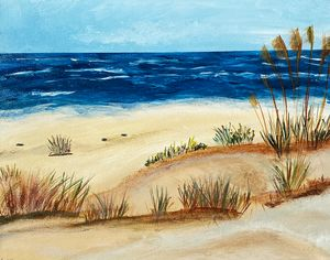Dunes On A Blue Day