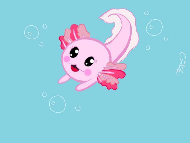 Baby axolotl - MckaylaBarkleyArt