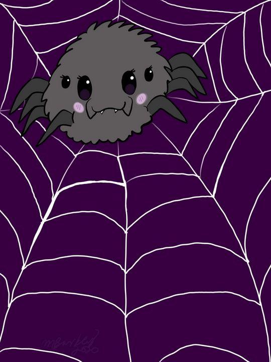 Purple spider - MckaylaBarkleyArt