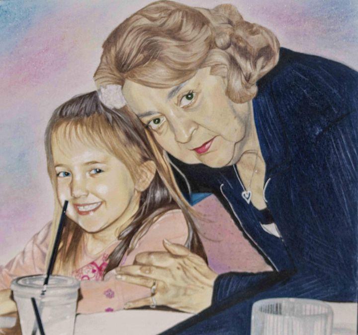 Drawing of me and my Grandmother - Madeleine DeSpirito's Artwork