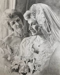 Drawing of my Grandmother's Wedding