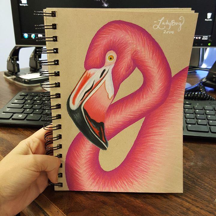 Flamingo Paradise - Ladybug Delatorre