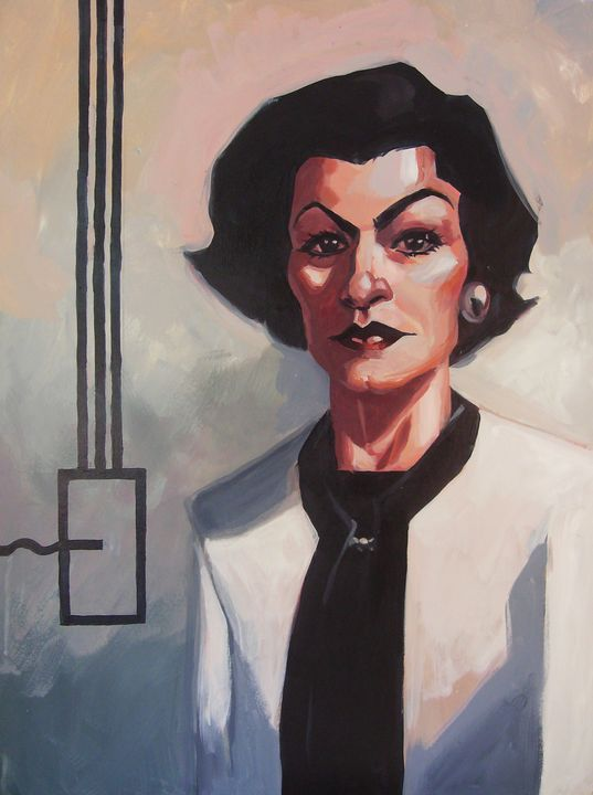 Painting of Coco Chanel - burpo