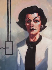Painting of Coco Chanel