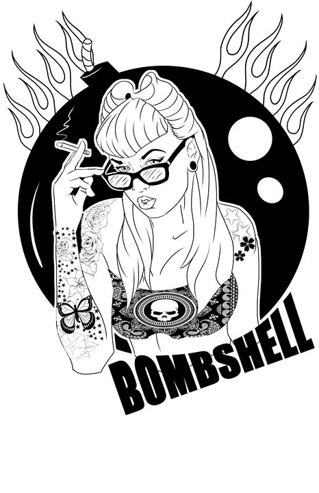Bombshell - Lewis Barela Illustration