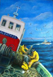 Retour au port de l'ALBATROS