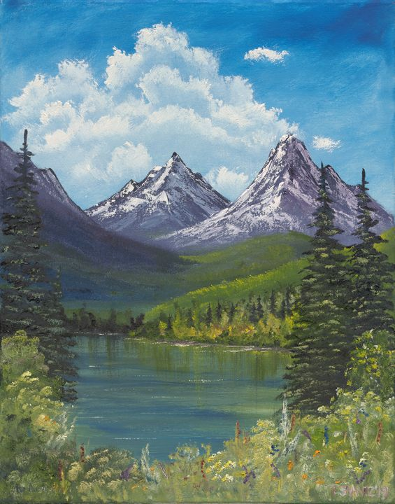 Meadow Lake in the Mountains - Tatsianas Art NatureHub