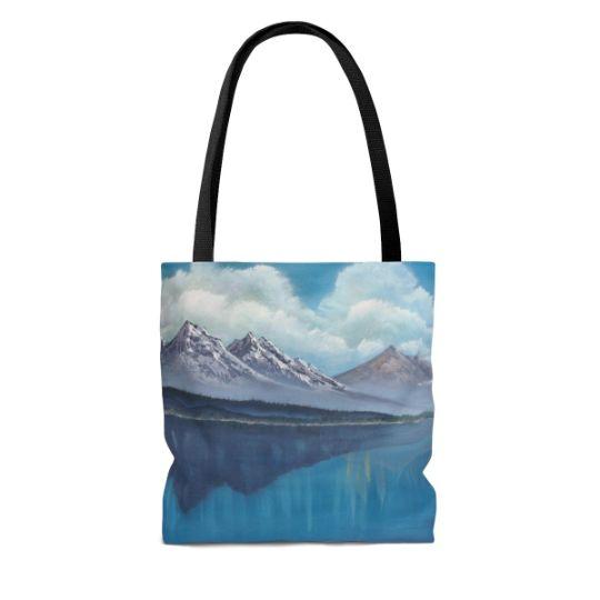 Tote Bag Mountain Blue Waters - Tatsianas Art NatureHub