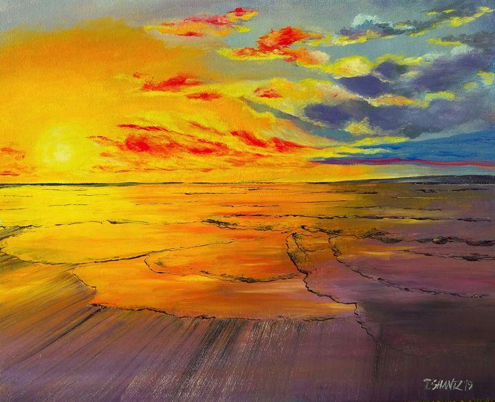 Sunset Sky and Water - Tatsianas Art NatureHub