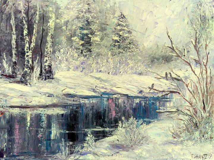 Snowed in Creek - Tatsianas Art NatureHub