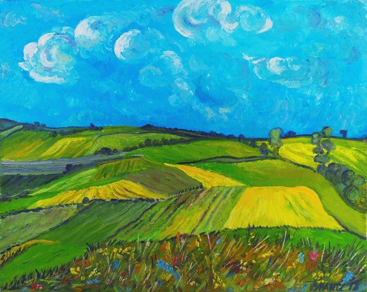 Wheat Fields - Tatsianas Art NatureHub