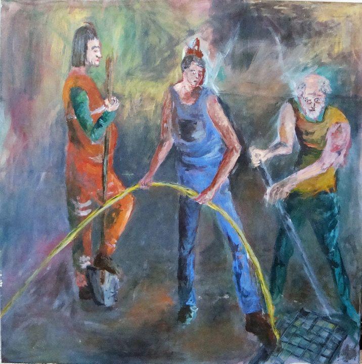 Three Workers - Anna Šmejcová