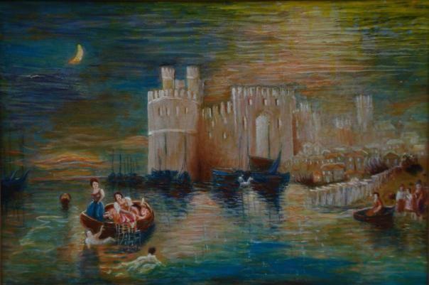 On a river near a castle - Vas Apilats