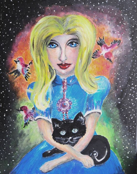 Magical cat eyes - Egle's art works gallery