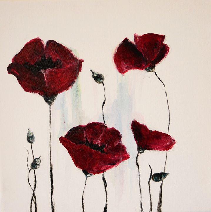 Fragile rain on the poppy - Egle's art works gallery