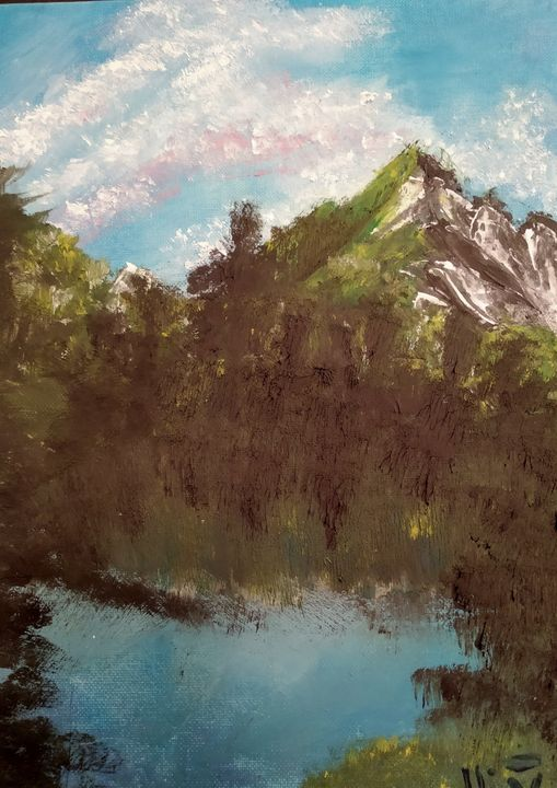 Mountain view - Art-tastic