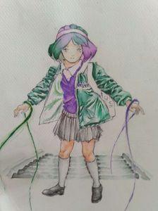 School Anime english girl