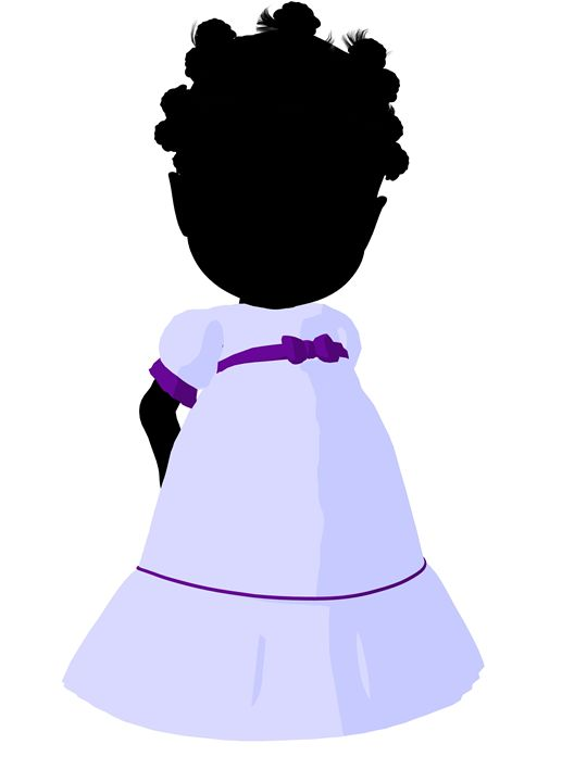 Little African American Bride - Kathy Gold Art