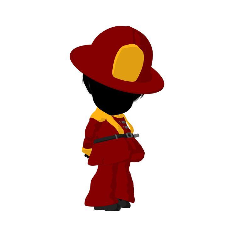 Little Firefighter Girl - Kathy Gold Art