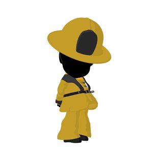 Little African American Firefighter - Kathy Gold Art