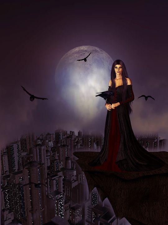 Night of the Ravens - Kathy Gold Art