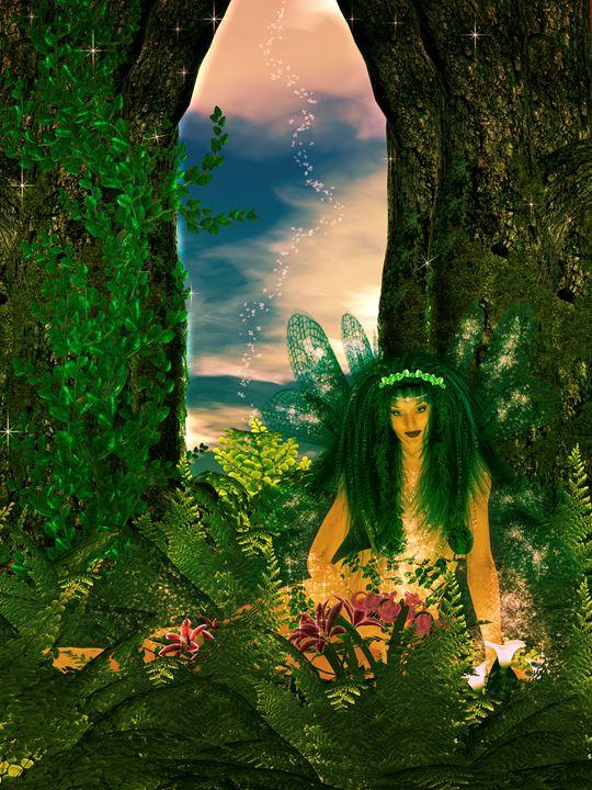 Recharging Fairy - Kathy Gold Art