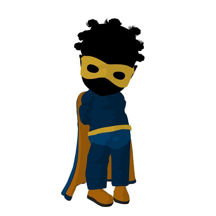 Little African American Super Hero - Kathy Gold Art