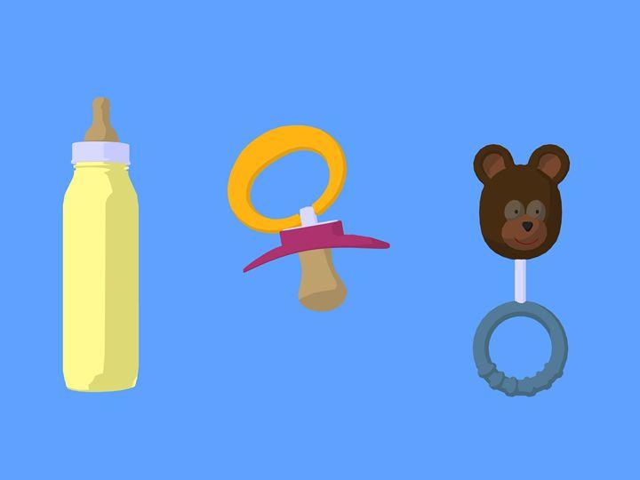 Baby Toys - Kathy Gold Art