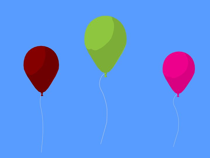 Balloons - Kathy Gold Art