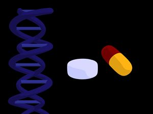 Dna & Pills - Kathy Gold Art