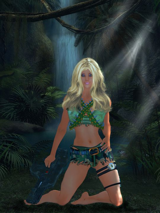 GI Barbie - Kathy Gold Art
