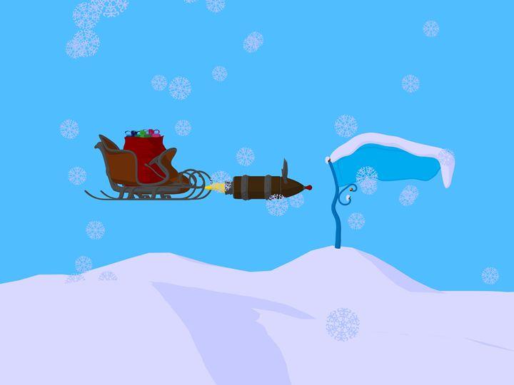Christmas Sled - Kathy Gold Art