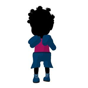 Little African American Boxer Girl - Kathy Gold Art
