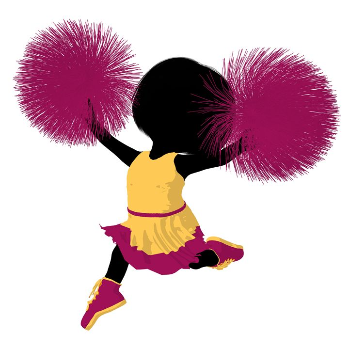 Little Cheer Girl - Kathy Gold Art