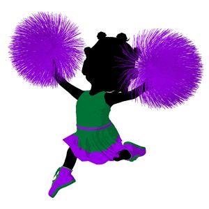 Little African American Cheer Girl - Kathy Gold Art