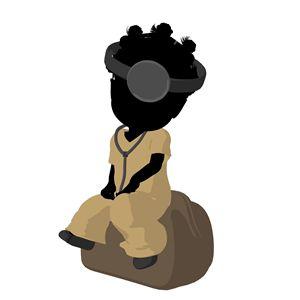 Little African American Doctor Girl - Kathy Gold Art
