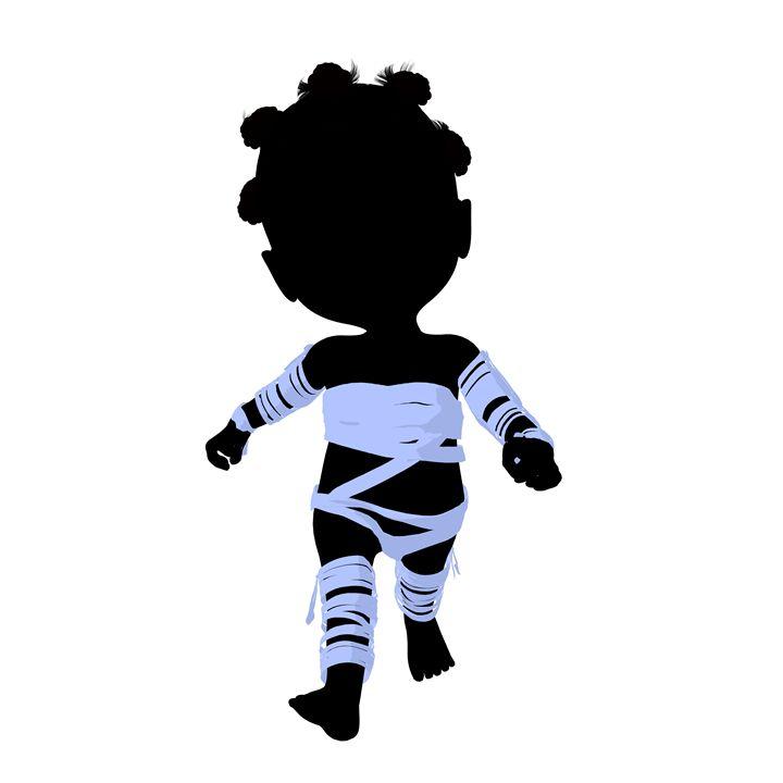 Little African American Mummy Girl - Kathy Gold Art