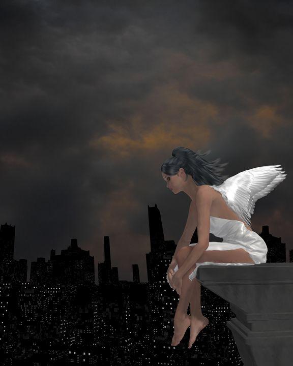 City Angel - Kathy Gold Art