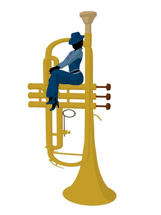 African American Jazz Musician - Kathy Gold Art