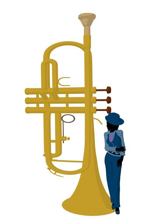 African American Jazz Musician Illus - Kathy Gold Art