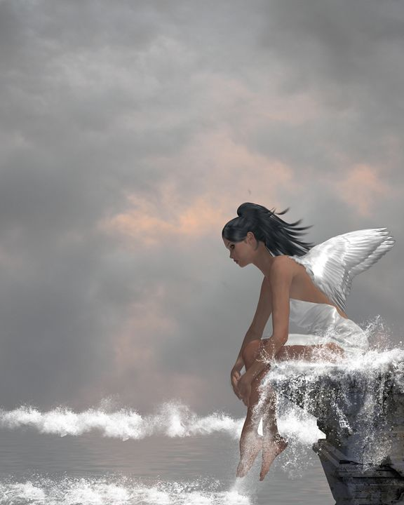 Angel On Water - Kathy Gold Art